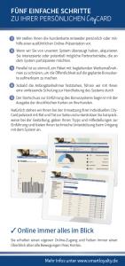 CityCARD Infoflyer – Fünf Schritte zur Kundenkarte