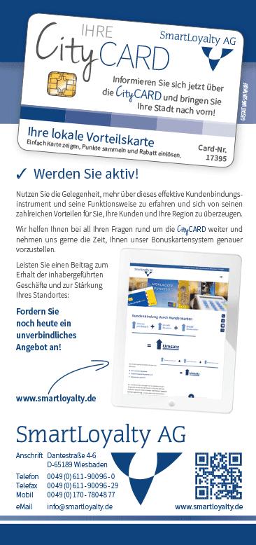 CityCARD Infoflyer – Angebot anfordern!