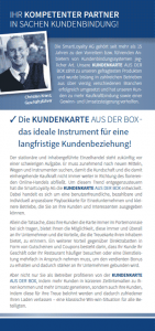Kundenkarten-Flyer Seite 2