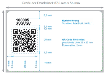 Layoutvorlage QR-Code-Karte