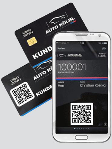Kundenkarten mit mobiler QR-Code-Lösung