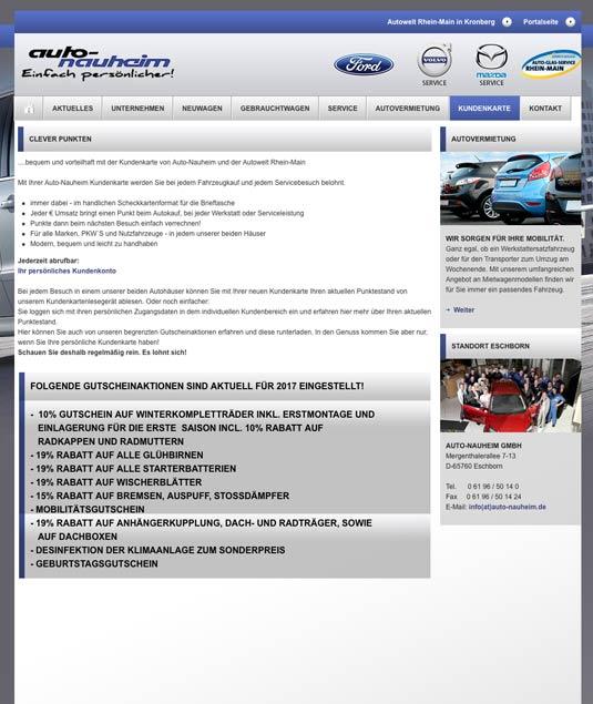 Die Webseite von Ford Auto Nauheim