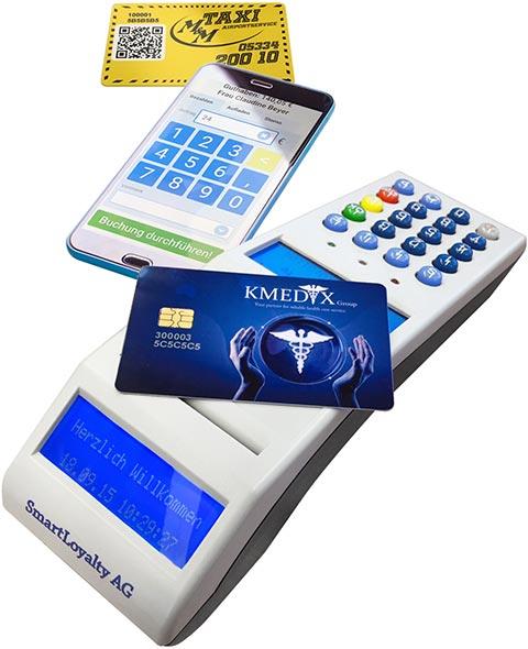 Wertkarten mit Multiterminal und Mobile-App