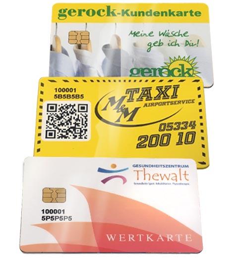 Wertkarten in verschiedenen Branchen