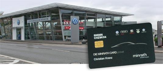 Die Autohausgruppe Minrath setzt auf Kundenkarten/Bonuskarten von SmartLoyalty