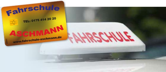 Die Bonuskarte der Fahrschule Aschmann
