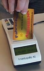Kundenkarten-Terminal mit Wertkarte