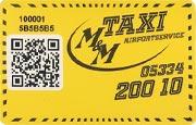Die Kundenkarte/Bonuskarte von M&M Taxi