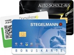 Klassische Kundenkarte mit Chip oder modern mit QR-Code