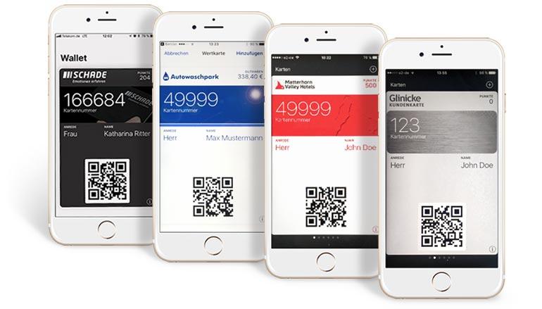 Beispiele für digitale Kundenkarten von SmartLoyalty