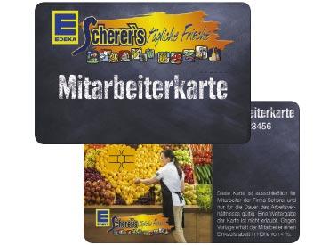 Die Kundenkarte als EDEKA-Mitarbeiterkarte
