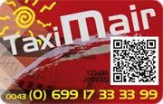 Die Wertkarte von Taxi Mair