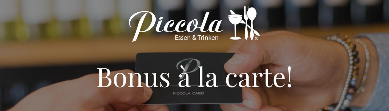 Slider Restaurant Piccola Kundenkarte