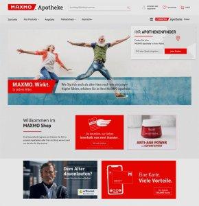 Webseite der Maxmo Apotheken