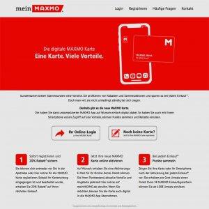 Apothekenkarte der Maxmo Gruppe auf der Webseite
