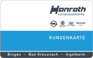 Die Bonuskarte im Opel Autohaus Honrath