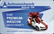 Die Geschenkkarte der Waschstraße Autowaschpark in Marbug-Süd