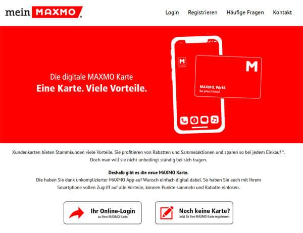 Digitale Kundenkarte von der Apothekengruppe Maxmo