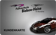 Die Wertkarte in der Fahrschule Biebow-Heise