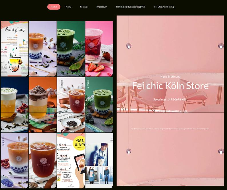 Die Webseite von Fei Chic