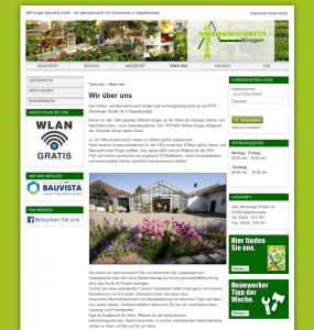 Die Webseite von Gartencenter Krüger