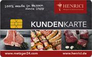 Kundenkarte/Bonuskarte in der Metzgerei Henrici