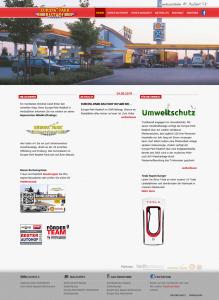 """Die Bonuskarte auf der Website von der Tankstelle """"Europa-Park-Rasthof"""""""