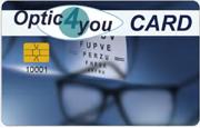 "Kundenkarte/Bonuskarte im Optiker-Fachgeschäft ""Optic 4 you"""