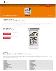 Die Kundenkarte in der App auf der Webseite von SEAT Autohaus Berlin