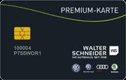 Die Kundenkarte im VW Autohaus Walter Schneider