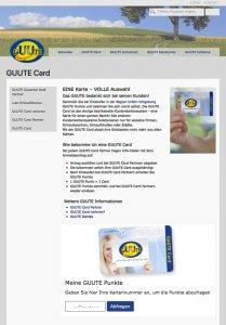 """Die Citycard """"GUUTE CARD"""" auf der Webseite"""