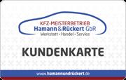 Die Kundenkarte in der Werkstatt Hamann & Rückert