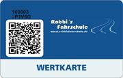 Die Wertkarte in Robbi`s Fahrschule