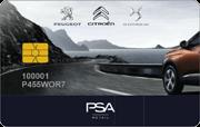 Die Kundenkarte der Autohausgruppe PSA