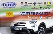 Die Kundenkarte vom Autohaus Lutz