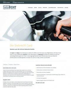 Die Kundenkarte der Automobilgruppe Siebrecht auf der Webseite