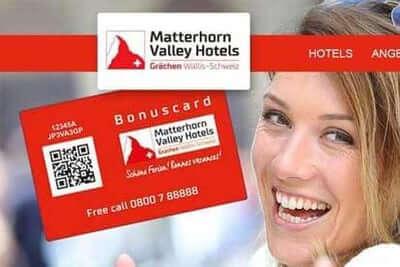 Die kundenkarte in der Hotelkette Matterhorn Valley