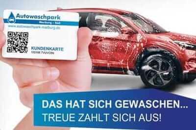 Die Kundenkarte im Autowaschpark Marburg