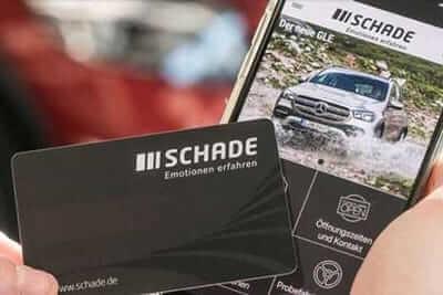 Die Kundenkarte im Mercedes-Autohaus Schade