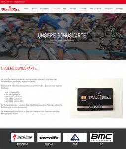 Die Kundenkarte bei Bike Rite auf der Webseite