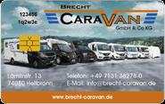 Die Kundenkarte bei Brecht Caravan