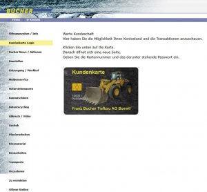 Die Kundenkarte von Bucher Tiefbau auf der Webseite