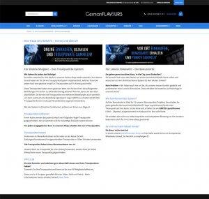 Die Kundenkarte bei GermanFLAVOURS auf der Webseite