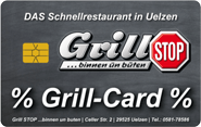 Die Kundenkarte vom Schnellrestaurant Grill STOP