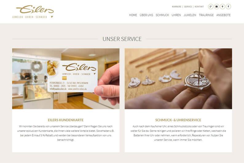 Die Kundenkarte bei Juwelier Eilers auf der Webseite