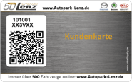 Die Kundenkarte vom Autopark Lenz