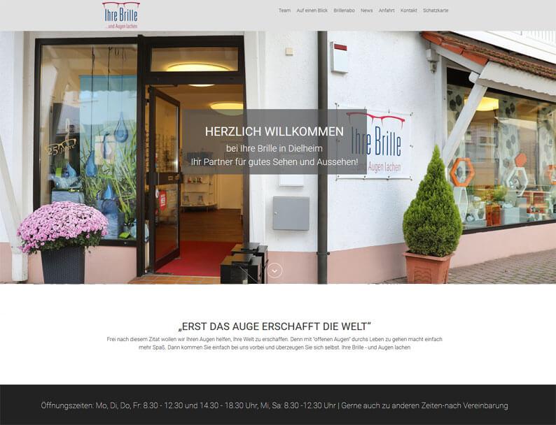 """Die Kundenkarte von """"Ihre Brille"""" auf der Webseite"""