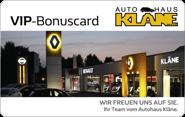 Die Kundenkarte vom Autohaus Kläne