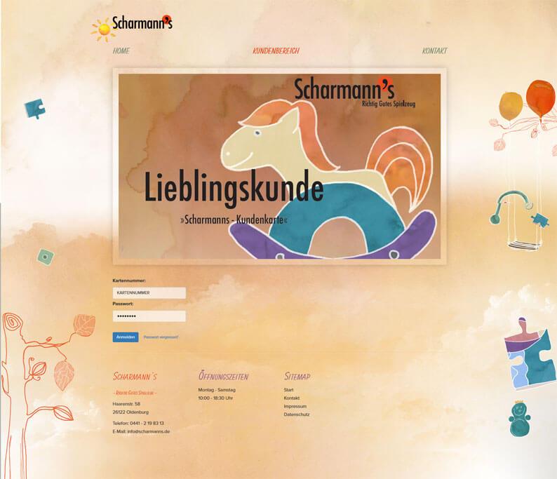Die Kundenkarte bei Scharmann`s auf der Webseite