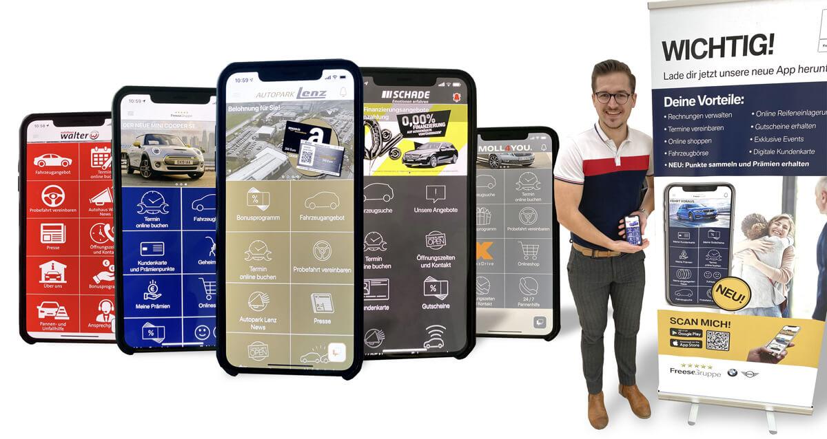 Kundenkarten-App Beispiele
